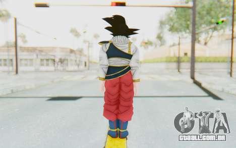 Dragon Ball Xenoverse Goku Yardrat Clothes para GTA San Andreas terceira tela
