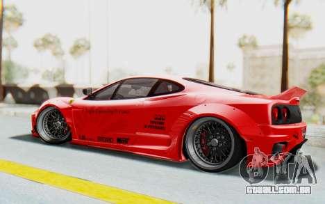 Ferrari 360 Modena Liberty Walk LB Perfomance v2 para GTA San Andreas esquerda vista