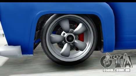 GTA 5 Vapid Slamvan without Hydro IVF para GTA San Andreas vista traseira