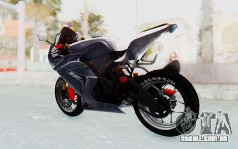 Kawasaki Ninja 250R Streetrace v2 para GTA San Andreas traseira esquerda vista