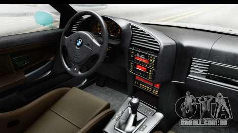 BMW M3 E36 Stance Lithuanian Police para GTA San Andreas vista interior