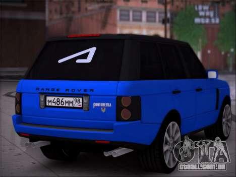 O Range Rover Sport Pintoresca para GTA San Andreas esquerda vista