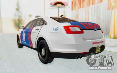 Ford Taurus Indonesian Traffic Police para GTA San Andreas vista direita