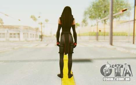 Marvel Heroes - Elektra para GTA San Andreas terceira tela