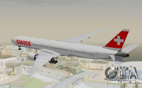 Boeing 777-300ER Swiss Global Air Lines para GTA San Andreas vista direita