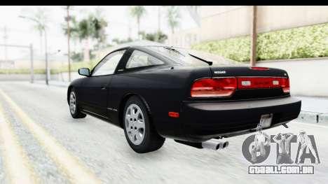 Nissan 240SX 1994 v2 para GTA San Andreas traseira esquerda vista