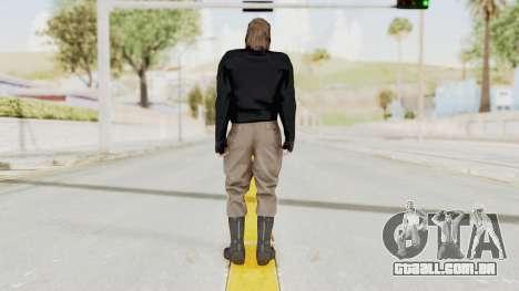 MGSV Phantom Pain BIG BOSS Leather Jacket para GTA San Andreas terceira tela
