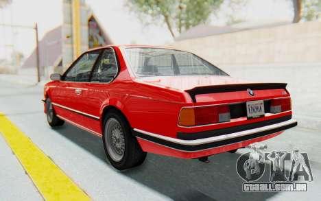 BMW M635 CSi (E24) 1984 IVF PJ2 para GTA San Andreas esquerda vista
