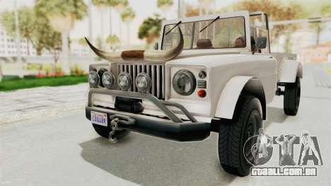 GTA 5 Canis Bodhi para GTA San Andreas vista direita