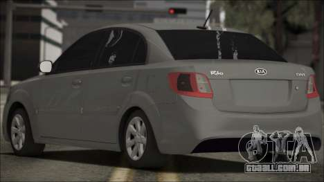 Kia Rio para GTA San Andreas esquerda vista
