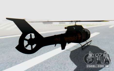 GTA 5 Maibatsu Frogger Trevor para GTA San Andreas traseira esquerda vista