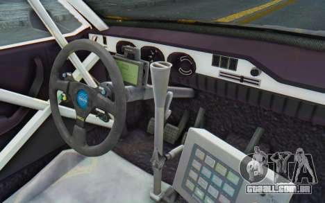 Dacia 1300 Rally para GTA San Andreas vista interior