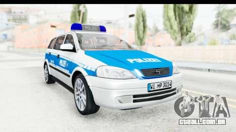 Opel Astra G Variant Polizei Hessen para GTA San Andreas vista direita