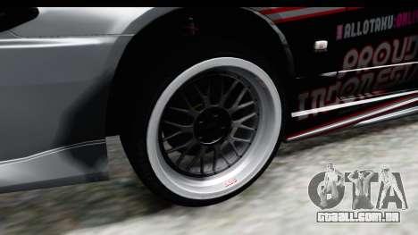 Nissan Silvia S15 Itasha para GTA San Andreas vista traseira
