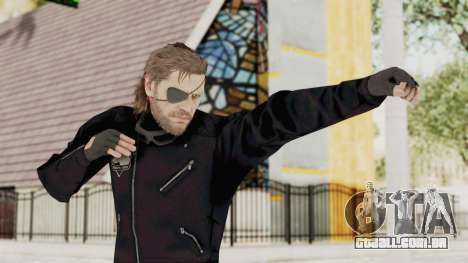 MGSV Phantom Pain BIG BOSS Leather Jacket para GTA San Andreas