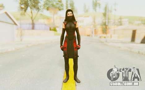 Marvel Heroes - Elektra para GTA San Andreas segunda tela