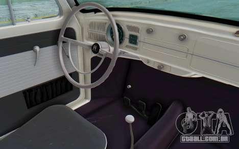 Volkswagen Beetle 1200 Type 1 1963 Herbie para GTA San Andreas vista interior