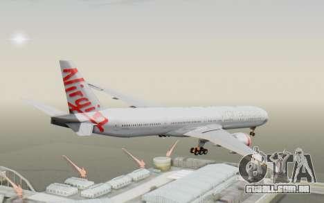 Boeing 777-300ER Virgin Australia v2 para GTA San Andreas vista direita