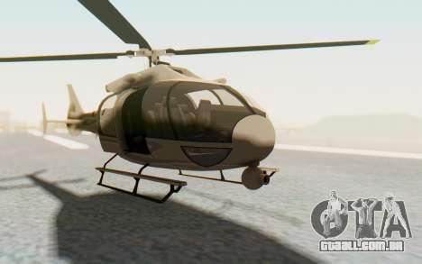 GTA 5 Maibatsu Frogger Civilian para GTA San Andreas vista direita