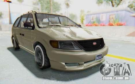 GTA 5 Vapid Minivan Custom without Hydro IVF para GTA San Andreas