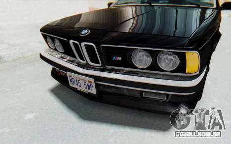 BMW M635 CSi (E24) 1984 IVF PJ3 para GTA San Andreas vista superior