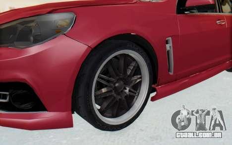 Chevrolet Super Sport 2014 para GTA San Andreas vista traseira