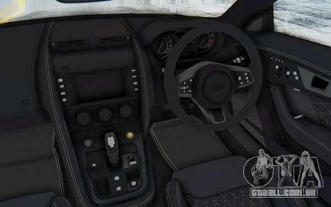 Jaguar F-Type Project 7 para GTA San Andreas vista interior