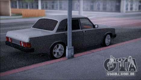 V8 de GÁS 31029 para GTA San Andreas traseira esquerda vista