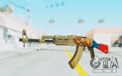 AK-47A1 Russian Flag para GTA San Andreas segunda tela