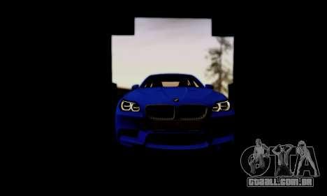 BMW M5 F10 G-Power para GTA San Andreas vista superior