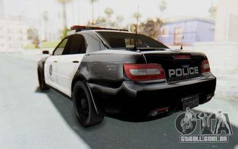 ASYM Desanne XT Pursuit v1 para GTA San Andreas traseira esquerda vista