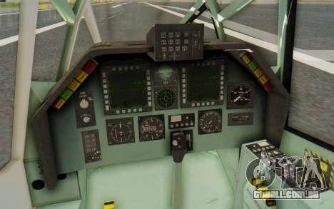 WZ-19 Attack Helicopter Asian para GTA San Andreas vista interior