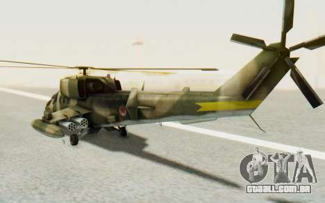 WZ-19 Attack Helicopter Asian para GTA San Andreas vista direita
