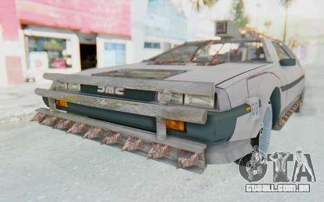 DeLorean DMC-12 2012 End Of The World para GTA San Andreas traseira esquerda vista