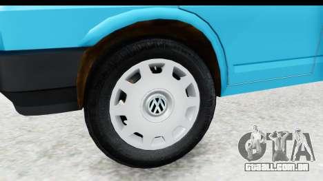Volkswagen T4 para GTA San Andreas vista traseira