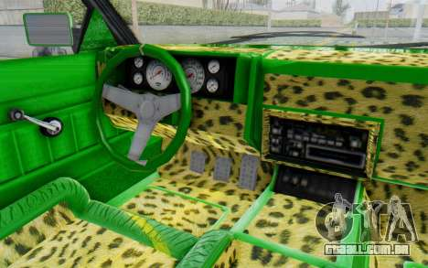 GTA 5 Willard Faction Custom Donk v3 para GTA San Andreas vista interior