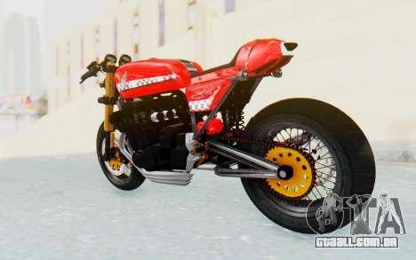 Honda CB750 Moge Cafe Racer para GTA San Andreas esquerda vista