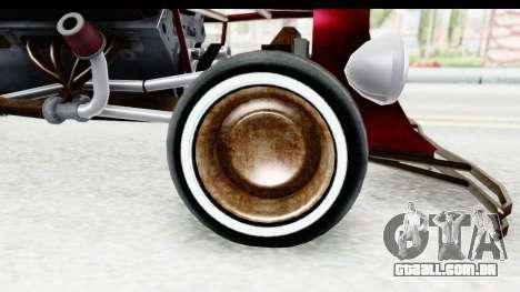 Unique V16 Fordor Ratrod para GTA San Andreas vista traseira
