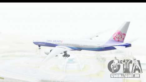 Boeing 777-300ER China Airlines Dreamliner para GTA San Andreas vista direita