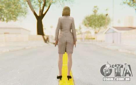 Dead Rising - Jessica McCartney para GTA San Andreas terceira tela
