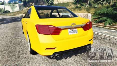 GTA 5 Toyota Camry V50 traseira vista lateral esquerda