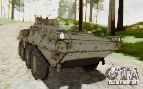 MGSV Phantom Pain STOUT IFV APC Tank v2 para GTA San Andreas traseira esquerda vista