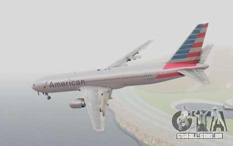 Boeing 767-300ER American Airlines para GTA San Andreas esquerda vista