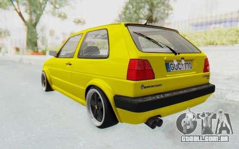 Volkswagen Golf Mk2 Lemon para GTA San Andreas esquerda vista