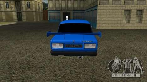 VAZ 2107 Esporte para GTA San Andreas vista traseira