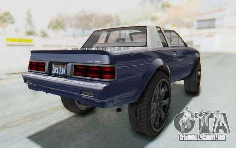 GTA 5 Willard Faction Custom Donk v3 IVF para GTA San Andreas traseira esquerda vista