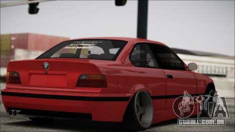 BMW E36 Stance para GTA San Andreas traseira esquerda vista