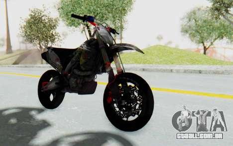 Kawasaki KX125 Supermoto v2 High Modif para GTA San Andreas vista direita