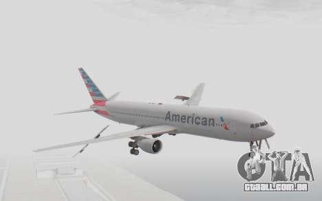 Boeing 767-300ER American Airlines para GTA San Andreas traseira esquerda vista