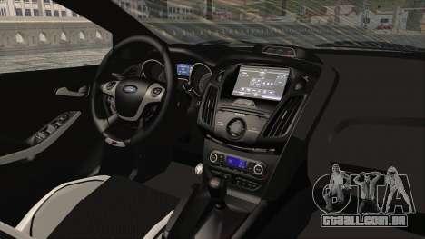 Ford Focus ST 2013 PDRM para GTA San Andreas vista interior
